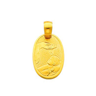 Yellow Gold Baptism Medal - 14 K.  1.4 gr. - PT242