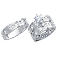 White Gold Trio Set - 14 K - TC175