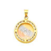 First Communion Gold Pendant - 14 K.  1.3 gr. - PT194