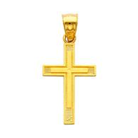 Yellow or White Gold Cross - 14K - 0.9 gr - PT136