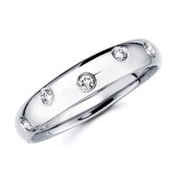 White gold wedding band with diamonds - BD4-21