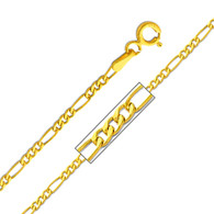 Yellow Gold Chain - 14 K. Figaro -1.9 mm - CH159