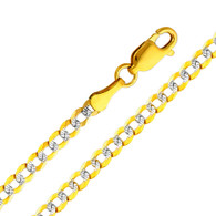 Yellow / White Gold Chain - Cuban WP- 3.2 mm - CH128