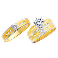 Yellow / White Gold Trio Set - TC143