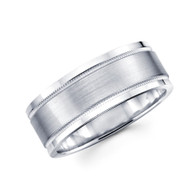 White gold wedding band  - BC1-9