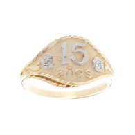 Forever 15 - Yellow /White / Red Gold Ring with CZ - XVR-705