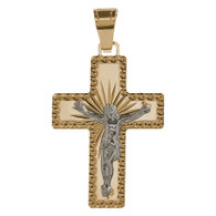 Yellow / White Gold Cross - 14K -  0.9 gr. - CRO-132