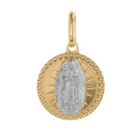 Yellow / White Gold Medal - Virgin Mary - 14 K - 1.1 gr. - RP025