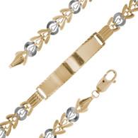 Yellow and White Gold Bracelet - 4.5 gr - BLG-454