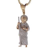 St Jude 14K Gold & Diamonds Pendant - MRD-203