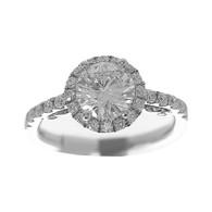 White Gold Engagement Ring - 14K - ERB-506