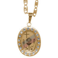 First Communion Gold Pendant - 14 K.  2 gr. - FC211