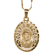 First Communion Gold Pendant - 14 K.  2.5 gr. - FC215