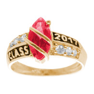 Graduation Ring / Yellow Gold -2.8 Gr. - GDR-122