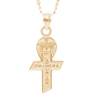 First Communion Gold Pendant - 14 K.  2.4 gr. - FC262