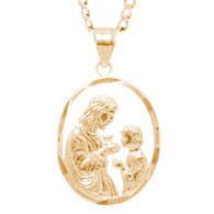 First Communion Gold Pendant - 14 K.  1.5 gr. - FC263