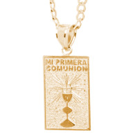 First Communion Gold Pendant - 14 K.  1.7 gr. - FC265