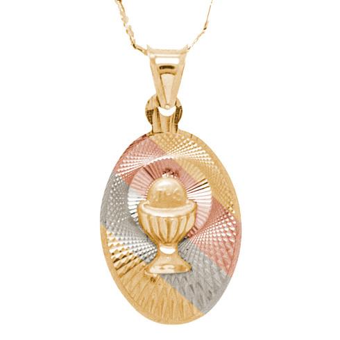 First Communion Gold Pendant - 14 K.  1.1 gr. - FC274