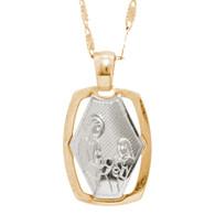 First Communion Gold Pendant - 14 K.  0.9 gr. - FC276