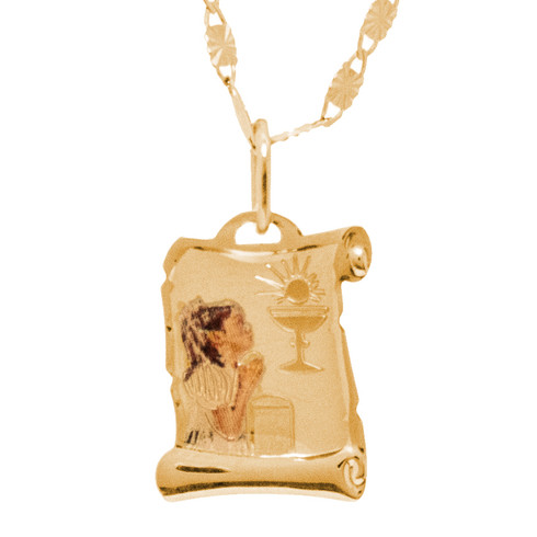 First Communion Gold Pendant - 14 K.  0.6 gr. - FC277