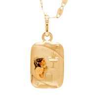 First Communion three gold Pendant - 14 K.  1.0 gr. - FC278