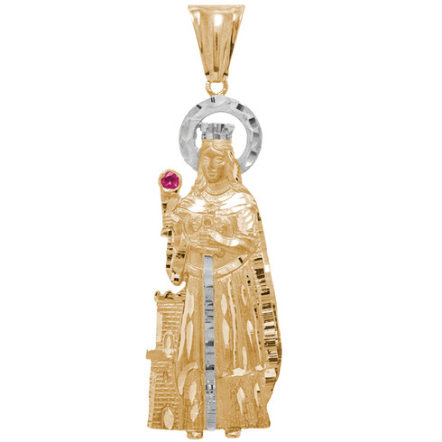 Holy Angel 14K Gold & Diamonds Pendant - MRD-404 18.5 Gr