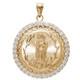Yellow Gold Medal - Virgin Mary - CZ - 14 K - 9.4 gr. - RP096