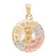 3 Gold Baptism Medal - 14 K - 1.4 gr. - BPT-574