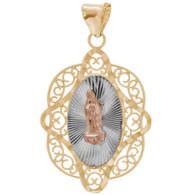 Yellow Gold Medal - Virgin Mary - 14 K - 1.2 gr. - RP155