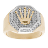 Yellow / White Gold Ring - 14 K - RGO-254