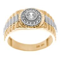 Yellow / White Gold Ring - 14 K - RGO-256