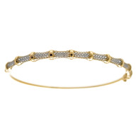 Yellow Gold Bracelet with CZ - 6.3 gr - BLG-701