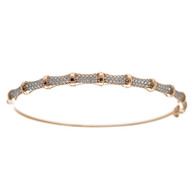 Red Gold Bracelet with CZ - 6.3 gr - BLG-703