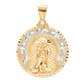 Yellow / White Gold Medal - Saint Lazarus - 14 K - RP163