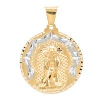 Yellow / White Gold Medal - Virgin of San Juan - 14 K - RP163
