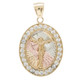 Yellow / White / Red Gold Medal - CZ - Jesus - 14 K - RP206