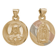 Yellow / White / Red Gold Medal - 2 Sides - 14 K - RP208