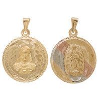 Yellow / White / Red Gold Medal - 2 Sides - 14 K - RP209