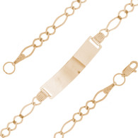 Yellow  Gold Bracelet – Baptism -5 in - BB352