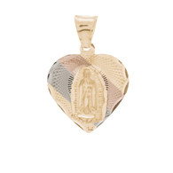 Yellow / White / Red Gold Virgin Mary Medal - 14 K - RP234