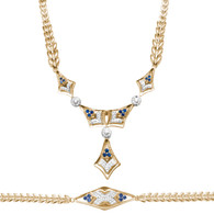 Necklace and Bracelet Set  - Yellow Gold - 14 K - JST123