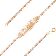 Yellow, Red & White Gold Bracelet  - BLG752