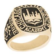 Graduation Ring / Yellow Gold - CZ - GDR165