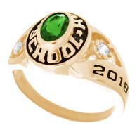Graduation Ring / Yellow Gold - CZ - GDR170