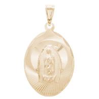 Virgin Mary Yellow Gold Medal - 14 K - RP266  Jesus Christ / Virgin Mary  14 K. | 1.6 gr.