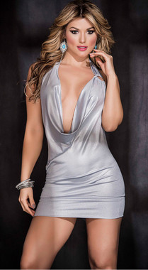 Sexy Silver Party Dress