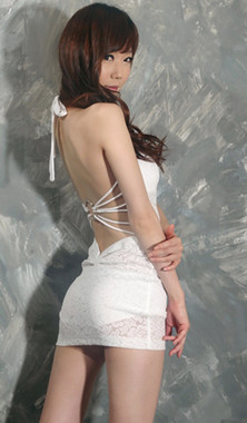 Sexy Girl White Lace Club Dress