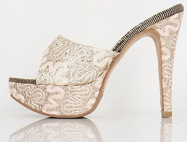 Rose Gold Covered Swirl Heels