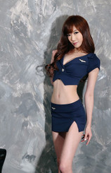 School Police Woman Costume Navy