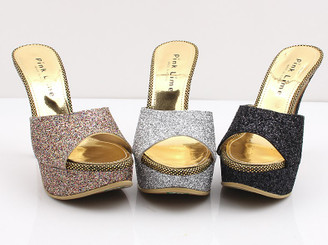 Sparkle Bling Covered Platform Heels